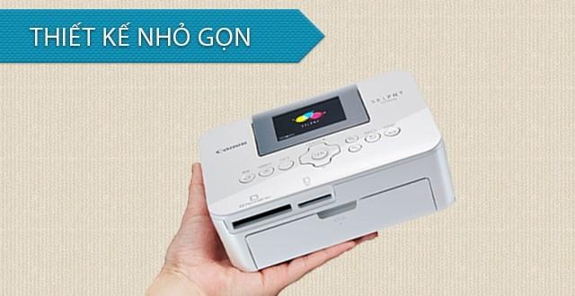 Canon Selphy CP1000 thiết kế nhỏ gọn phù hợp với nhu cầu in ảnh mọi nơi