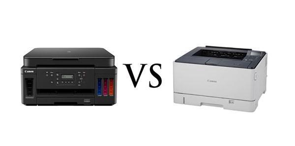 So sánh máy in phun và laser màu