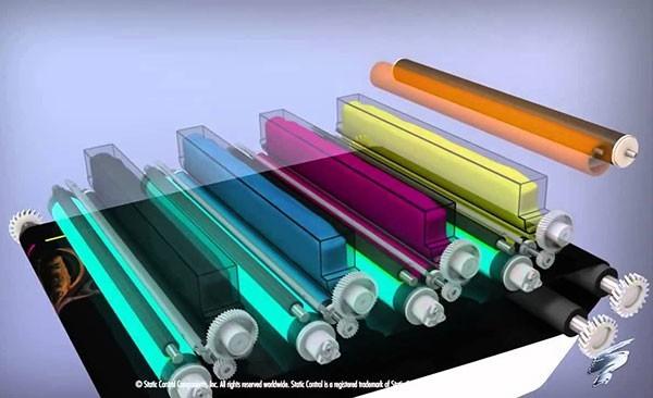 Máy in laser màu chính hãng