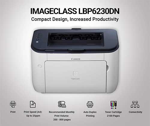 Đánh giá máy in Canon 6230DN