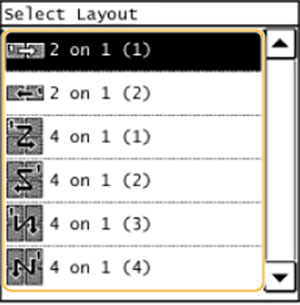 Select layout máy in laser màu hp