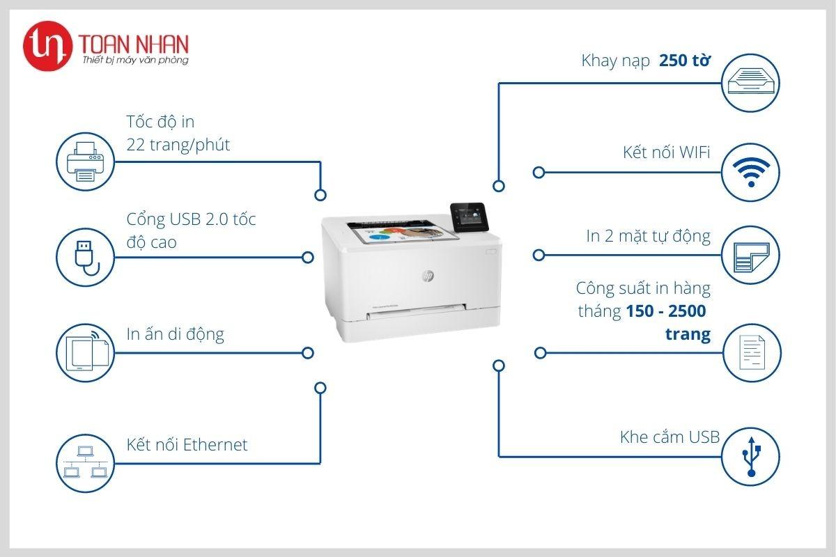 đặc tính máy in HP M254dw