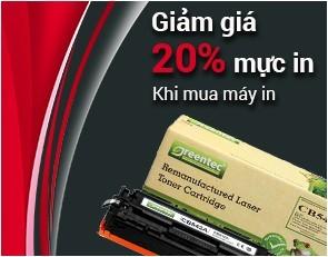 Giảm giá mực in 20% khi mua máy in laser | toannhan.com