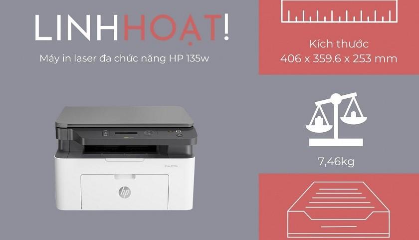 Máy in HP MFP 135w tính linh hoạt
