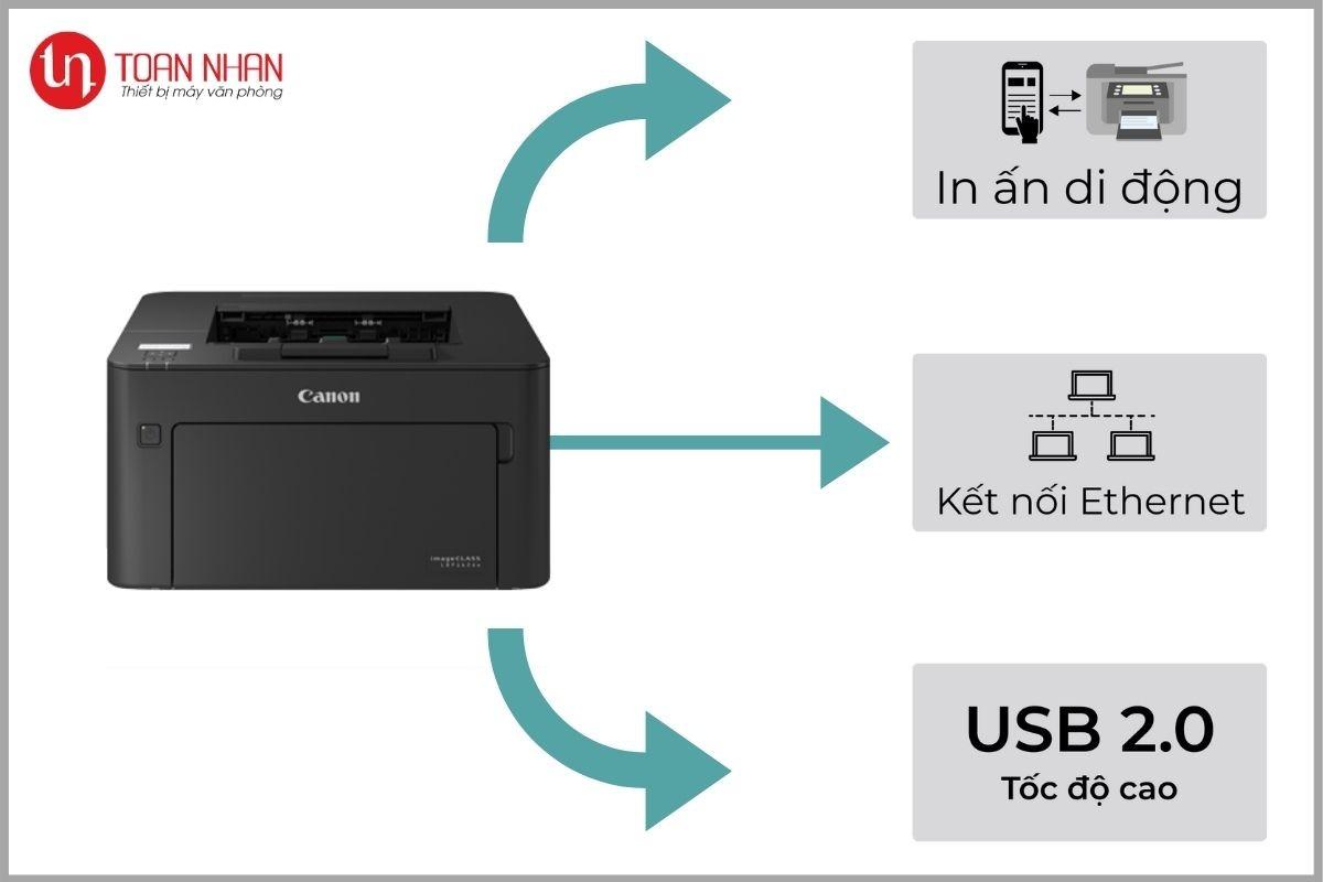 kết nối máy in lbp161dnplus