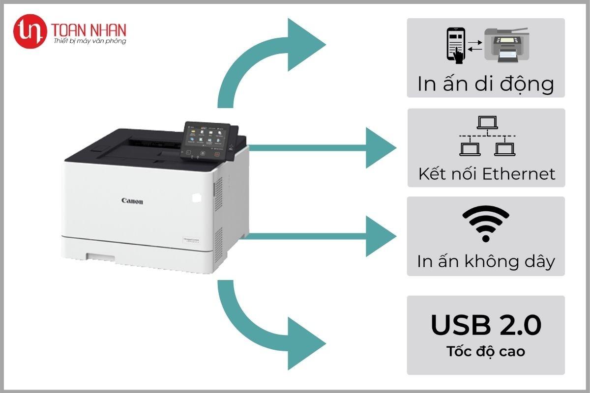kết nối máy in lbp654cx