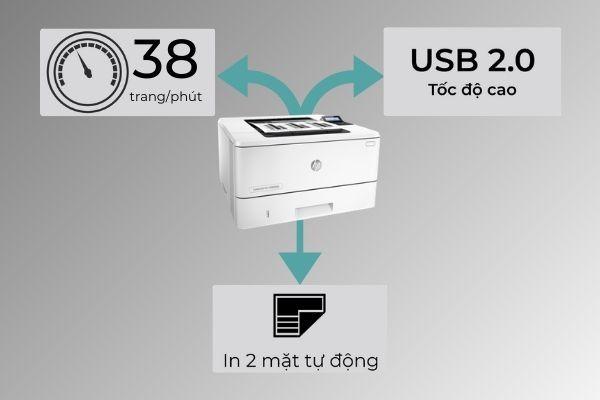 máy in laser đen trắng m402d
