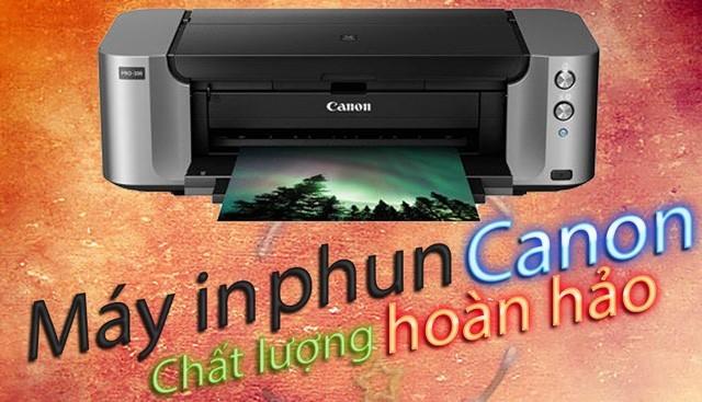 máy in phun Canon sử dụng rất tốt, đạt chất lượng cho các nhu cầu về in hình vẽ, ảnh, logo màu sắc