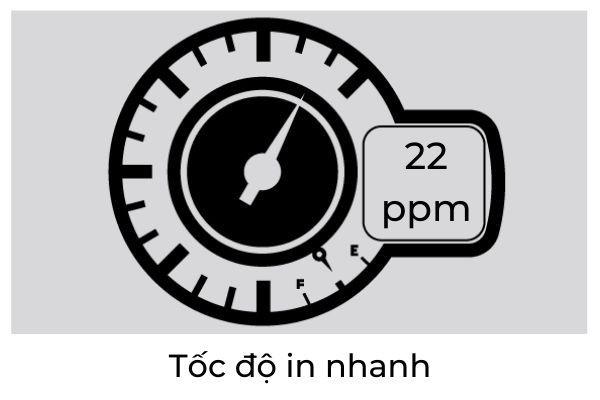 tốc độ in 623cdw